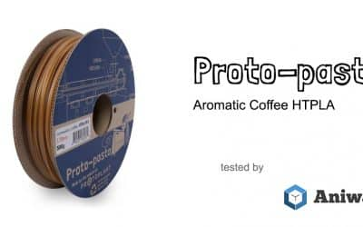 [Review] The Proto-pasta HTPLA Aromatic Coffee, a flavorful filament for 3D printers