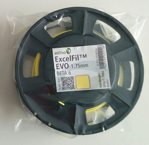 The sample spool of the Voltivo ExcelFil EVO (BETA 6).