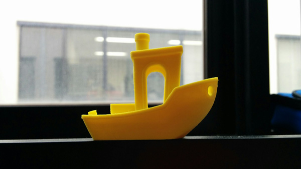 Benchy 3D printed with Voltivo ExcelFil EVO at 100 microns resolution.