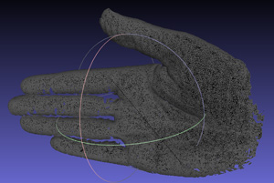 3D scan of a human hand with the Rangevision smart 3D scanner.