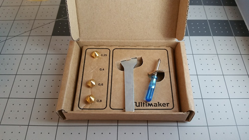 Ultimaker 2+ accessories.
