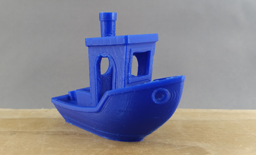 3D Benchy 3D printed on the Ultimaker 2+.