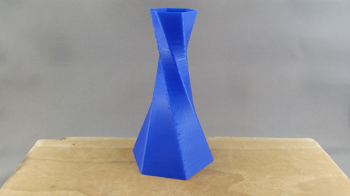 Twisted Hex Vase 3D printed on the Ultimaker 2+.
