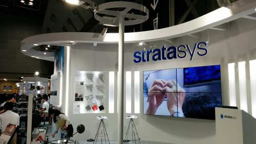 The Stratasys booth