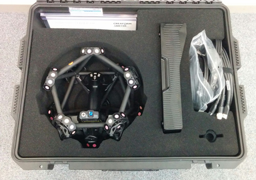 The MetraSCAN 750 transport case.