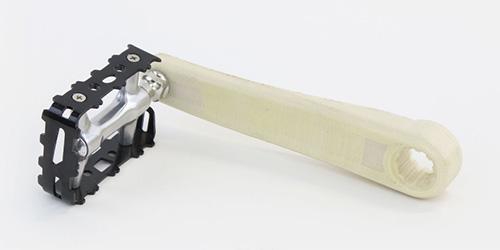 Pédale imprimée en 3D par une MarkForged Mark Two en Fibre de Verre.