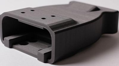 Pièce imprimée en 3D en Onyx avec une MarkForged Mark Two.