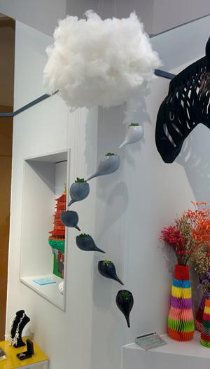 3D printed artistic vases.