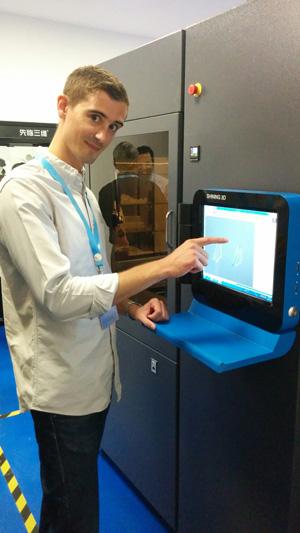 The Shining 3D iSLA 650Pro SLA 3D printer control screen.