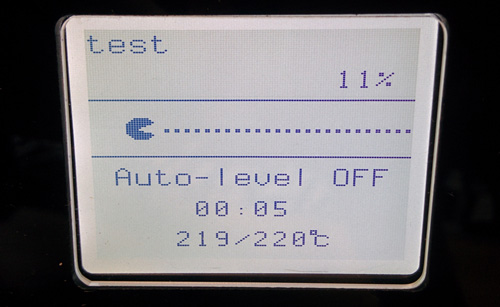 The LCD screen interface of the MBot Grid 2 Plus.