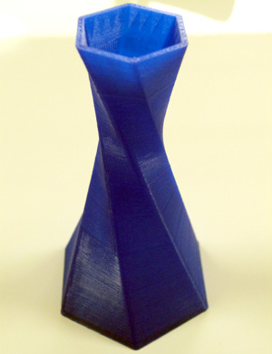 Twisted Hex Vase 3D printed on the Magicfirm MBot Grid 2 Plus.
