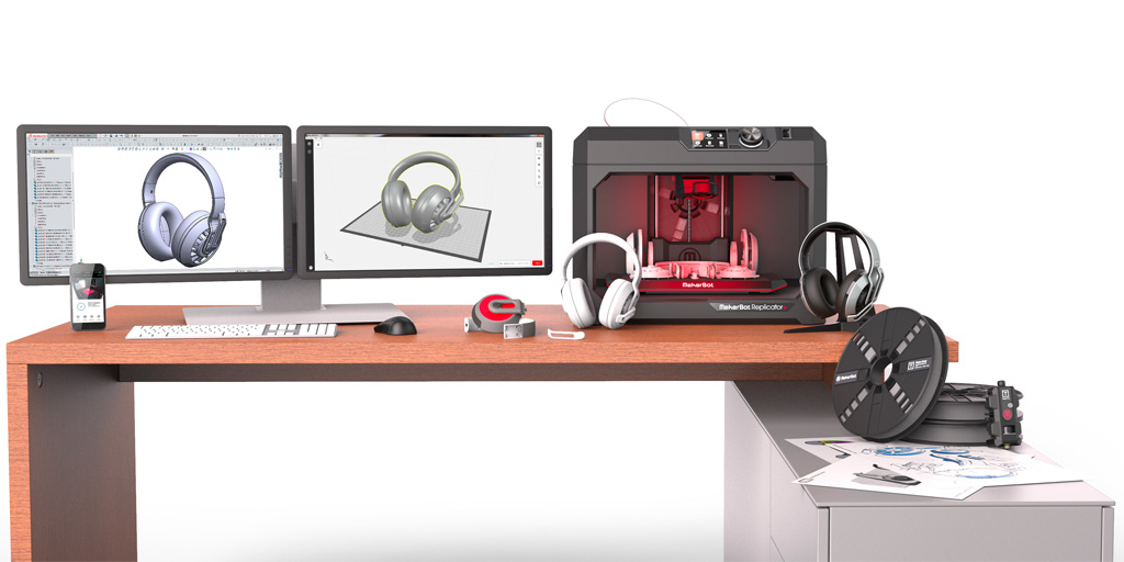 Makerbot unveils two new desktop 3D printers: the Makerbot Replicator+ and the Replicator Mini+