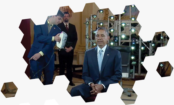 Obama 3D scan with Artec Eva.