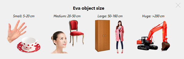Artec Eva objects sizes compatibilities and uses cases.