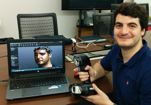 3D face scanning with the Go!SCAN 50.