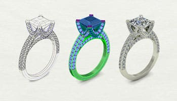 3D scanners can be used to 3D scan jewels to make a 3D model.