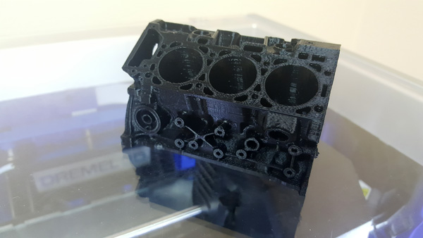 Ford Engine Block by Ford 3D printed on the Dremel Idea Builder 3D40.