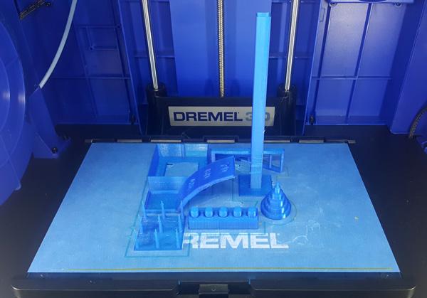 Make torture test 3D printed on the Dremel Idea Builder 3D40.