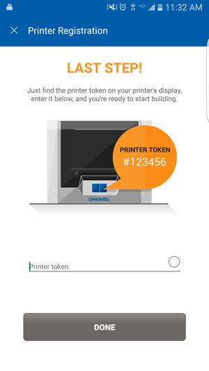 The Dremel 3D40 online registration.