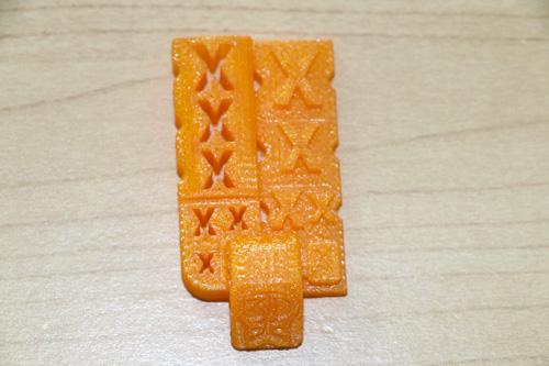 3D KitBash V0.2 test files close up 3D printed on the Dremel Idea Builder 3D40.