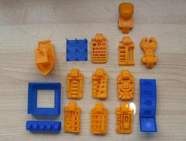 3D KitBash V0.2 test files 3D printed on the Dremel Idea Builder 3D40.