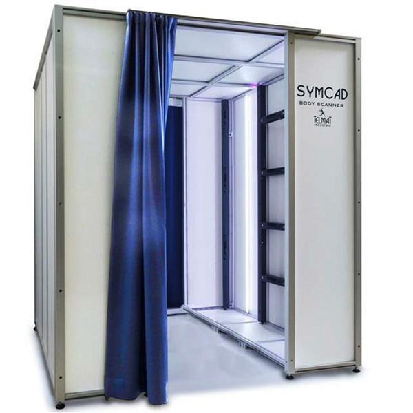 Le TELMAT Industrie SYMCAD III est une cabine de scan 3D permettant de numériser en HD des personnes.