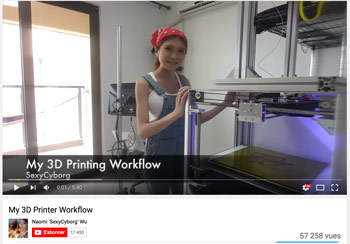 Best 3D printing Youtube channels Naomi Sexy Cyborg Wu