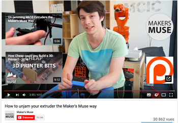 Best 3D printing YouTube channels with Maker Muse. Angus is showing us how to fix his 3D printer.