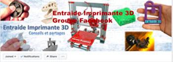 Entraide Imprimantes 3D est le plus gros groupe Facebook traitant de l'impression 3D.