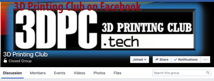 3D printing club is a very interesting 3D printing Facebook group.