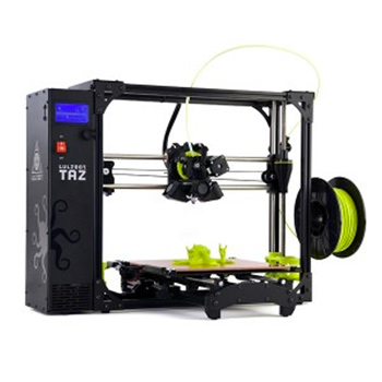 The Lulzbot Taz 6 is an award winner desktop 3D printer with an impressive build volume.