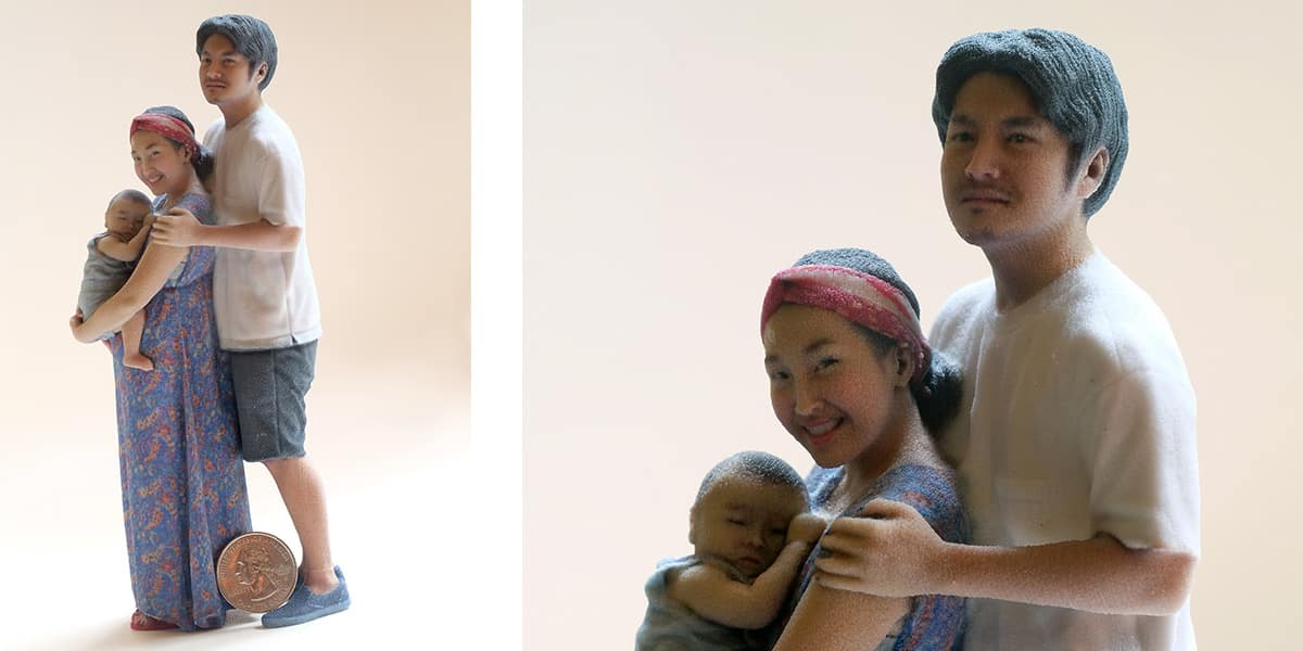 3D printed figurine from Twindom's Twinstant Mobile with HD retouching
