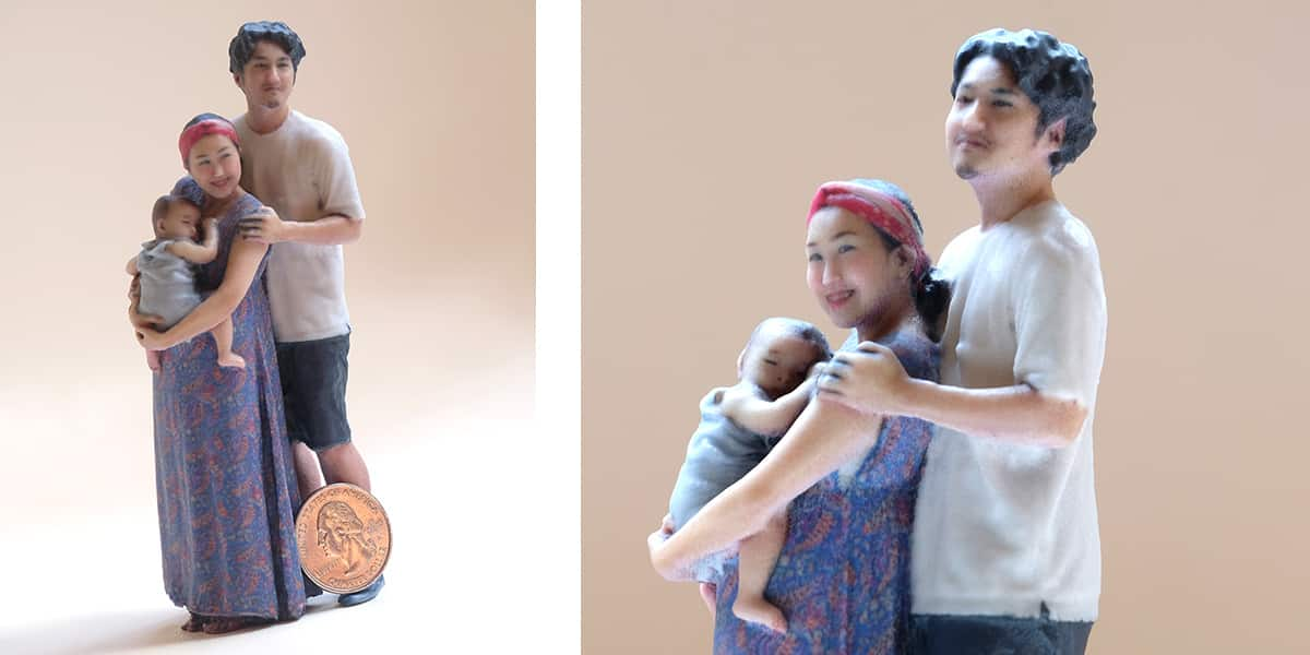 3D printed figurine from Twindom's Twinstant Mobile with basic retouching.