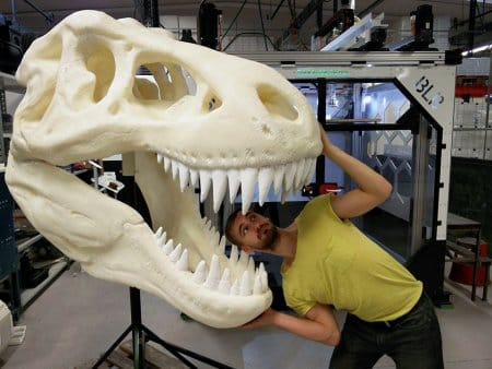 A huge 3D printed T-Rex thanks to BLB Industries' THE BOX.