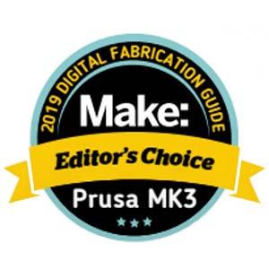 Makezine editor's choice best 3D printer Prusa Research Original Prusa i3 MK3