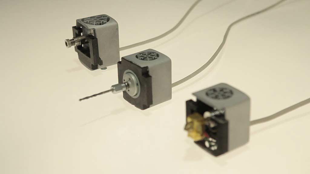 Différents modules pour une imprimante 3D tout en un multi fonctions