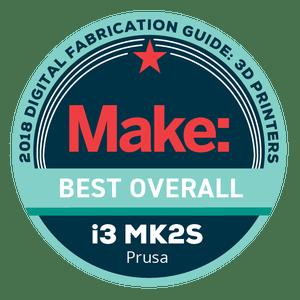 Makezine awards 2018 Original Prusa i3 MK2S Best Overall
