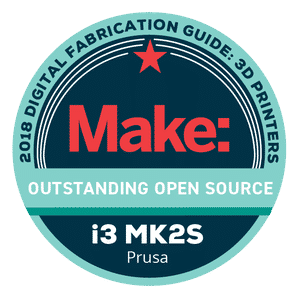 Makezine awards 2018 Original Prusa i3 MK2S Outstanding Open Source