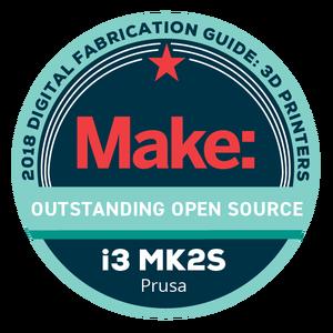 Makezine awards 2018 Original Prusa i3 MK2S Outstanding Open Source