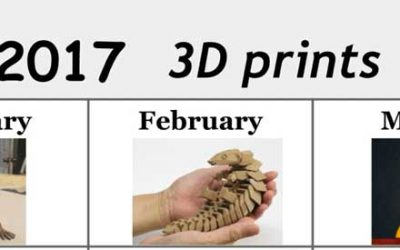 The 2017 3D print calendar – 12 3D models that went viral this year