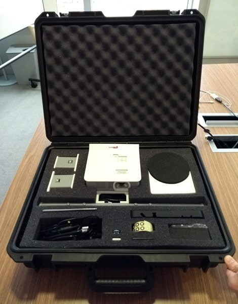 The Spectrum's hard case and accessories.