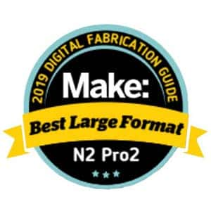 Makezine award 2019 best large format 3D printer Raise3D Pro2