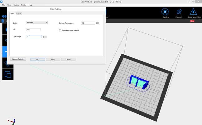 Test Geeetech E180 imprimante 3D pas chère - logiciel