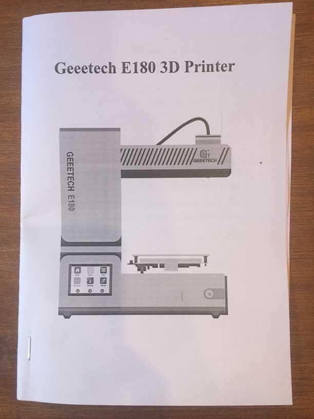 Test Geeetech E180 - Mode d'emploi
