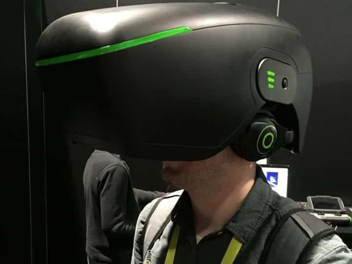 The 3DHead, a large and heavy VR headset from 2015.