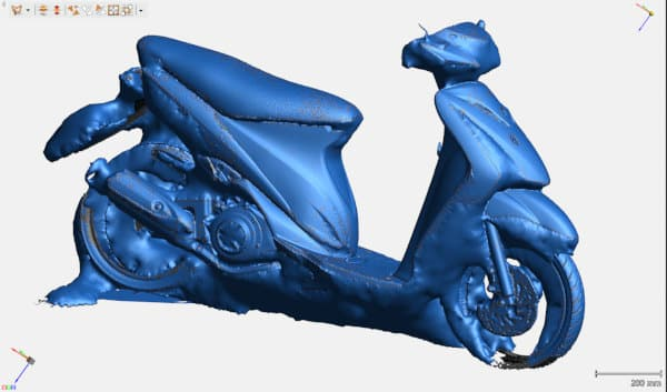he 3D scan of the Suzuki, after running the watertight meshing tool
