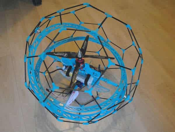 This DIY spherical drone can be printed in PLA or ABS.