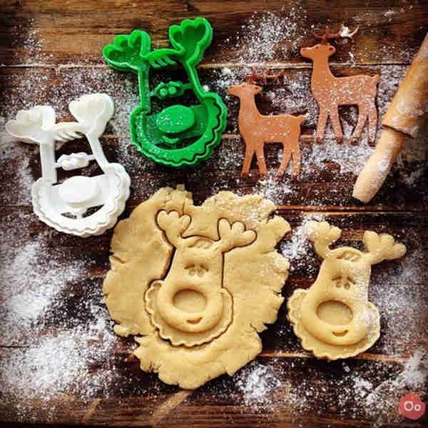 A reindeer cookie cutter for when Santa stops by.