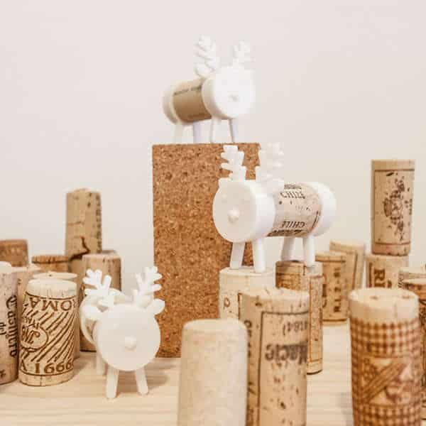 A reindeer to recycle your wine corks.