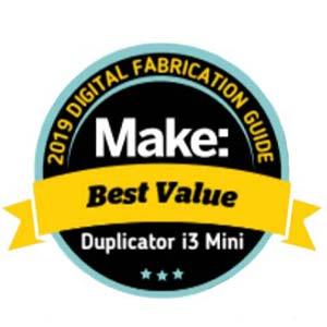Award Makezine 2019 Best Value 3D printer Wanhao Duplicator i3 Mini